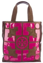 Tory Burch Patent Leather Logo Appliqué Tote