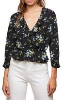 Miss Selfridge Floral Ruffle Wrap Blouse