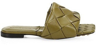 Bottega Veneta Lido Flat Leather Sandals