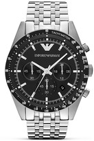 Emporio Armani Silver Seven Link Bracelet Watch, 46mm