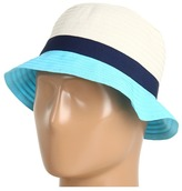 Calvin Klein Colorblock Ribbon Cloche (Blue) - Hats