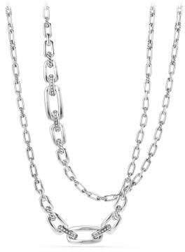David Yurman Wellesley Link Necklace With Diamonds