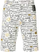 Dolce & Gabbana graffit print shorts