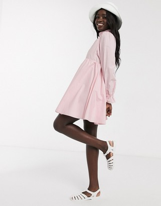 Daisy Street mini smock dress with full skirt