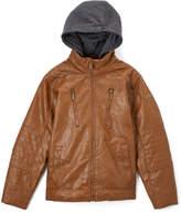 English Laundry Saddle Faux Leather Coat - Toddler & Boys