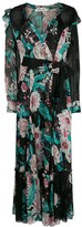 Diane von Furstenberg V-neck floral print dress