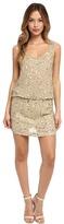Nicole Miller Seashell Sequin Blouson Dress