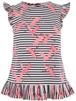 Oasis Stripe Flamingo Shell Top
