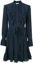 Twin-Set frilled detail dots dress - women - Polyester/Spandex/Elastane - XXS