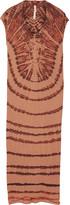 Raquel Allegra Tie-dyed Cotton-blend Jersey Maxi Dress - Red