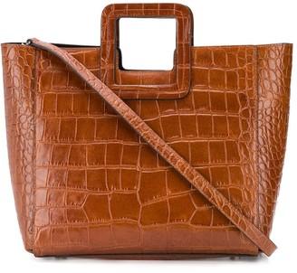STAUD Shirley crocodile-effect tote bag