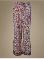 M&S Collection Floral Print Palazzo Pyjama Bottoms