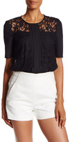 BCBGeneration Short Sleeve Lace Blouse