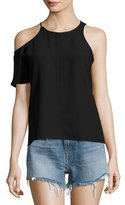Alexander Wang Matte Crepe Asymmetric Top, Black