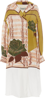 Rachel Comey Harriman Printed Silk Shift Dress