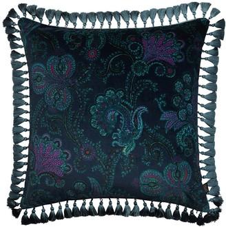 House Of Hackney Large Palme Cashmir Cotton Velvet Pillow
