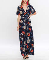 Flying Tomato Navy Floral Wide-Leg Jumpsuit