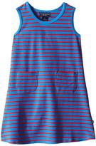 Toobydoo Tank Dress Royal Blue/Red Stripe (Infant/Toddler)