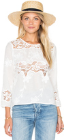 Endless Rose Woven Long Sleeve Top