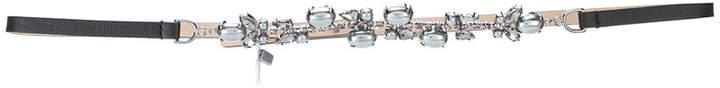 Max Mara rhinestone embellished belt