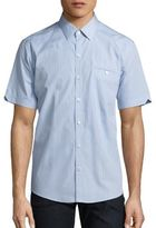 Zachary Prell Micro-Check Button-Up Shirt
