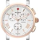 Michele Women's MW01K00L4018 Sport Sail Large Swiss Quartz Two Tone Watch Head