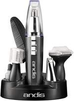 Andis EasyTrim2 9-Piece Personal Ear, Nose, Eyebrow and Beard Trimmer Kit, Gray, Model MHT-4