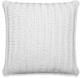 Kenneth Cole Reaction Home Chunky Knit Square Throw Pillow in White