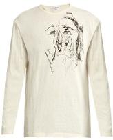Yohji Yamamoto Drawn Scribble-print Cotton T-shirt
