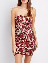 Charlotte Russe Lace Strapless Bodycon Dress