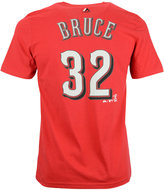 Majestic Boys' Jay Bruce Cincinnati Reds Official Player T-Shirt