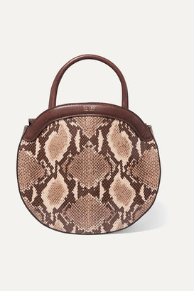 TL-180 Le Panier Snake-effect Leather Tote - Beige
