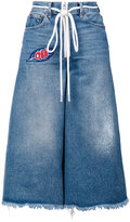 Off-White capri jeans - women - Cotton/Polyester/glass - 26