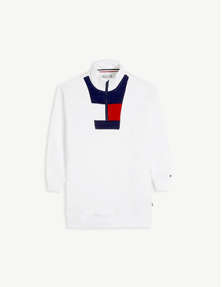 Tommy Hilfiger Cotton striped-panel dress 8-12 years
