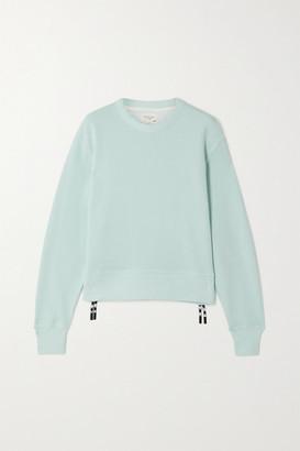 Rag & Bone Frankie Zip-embellished Cotton-blend Jersey Sweatshirt - Blue