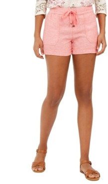 Style&Co. Style & Co Solid Linen Shorts, Created for Macy's