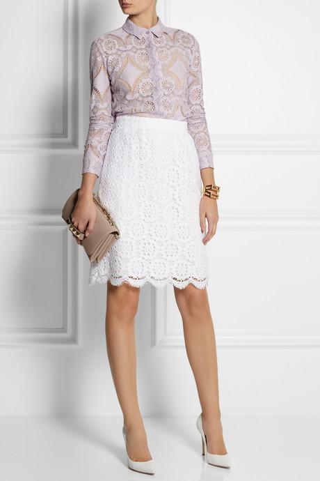 Cotton-blend lace shirt