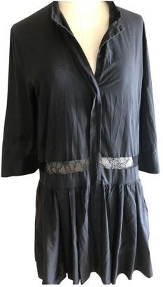 Les Prairies de Paris Black Cotton Dress for Women