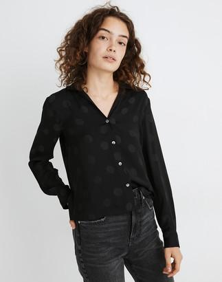 Madewell Jacquard Dot Pajama Shirt