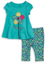 Kids Headquarters Girls 2-6x Little Girls Floral Tunic and Leggings Set