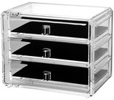 US Acrylic Deluxe 3-Drawer Jewelry Chest