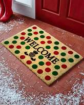 Mackenzie Childs MacKenzie-Childs Holiday Dot Welcome Doormat