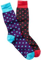 Jared Lang Polka Dot Crew Sock - Pack of 2