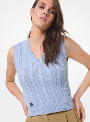 Michael Kors Cable Cashmere Vest