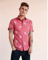 Express soft wash lobster short sleeve cotton shirt