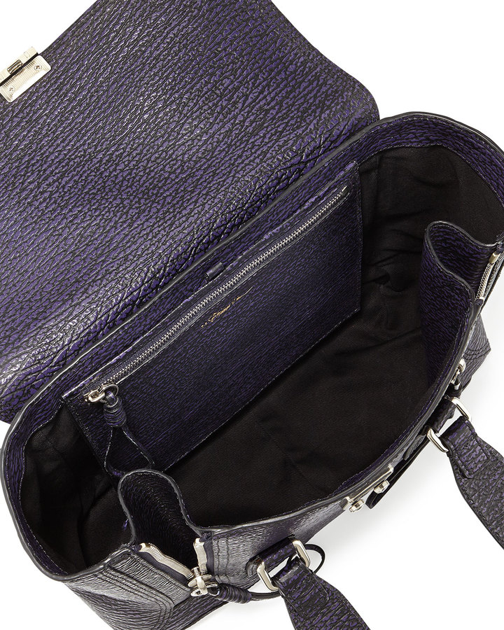 3.1 Phillip Lim Pashli Medium Zip Satchel Bag, African Violet
