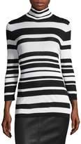 Roberto Cavalli Women's Striped Turtleneck