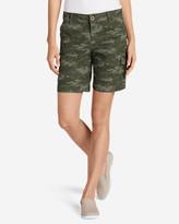 Eddie Bauer Women's Adventurer® Stretch Ripstop Cargo Shorts - Camo - Slightly Curvy