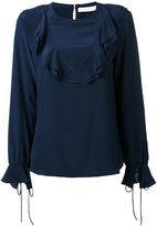See by Chloe ruffle yoke blouse - women - Silk - 36