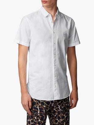 HUGO BOSS Magneton Short Sleeve Slim Fit Shirt, White
